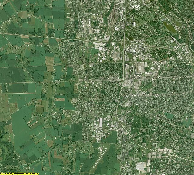 Franklin County, Ohio aerial photography