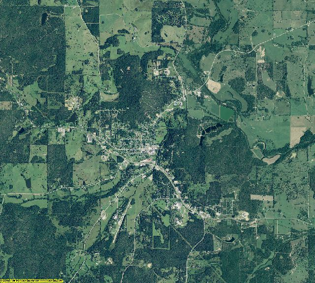 Fulton County, Arkansas aerial photography