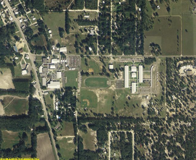 Gilchrist County, FL aerial photography detail