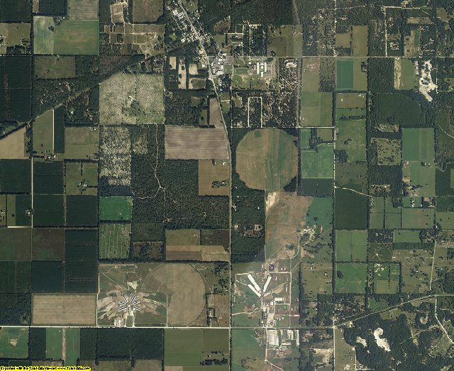 Gilchrist County, Florida aerial photography