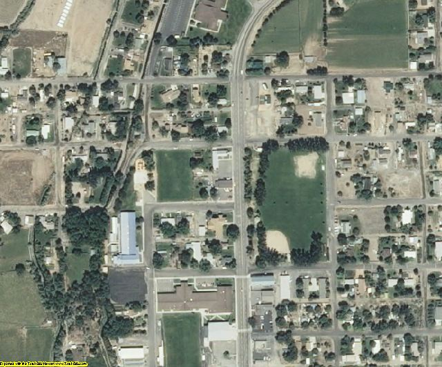 Gooding County, ID aerial photography detail