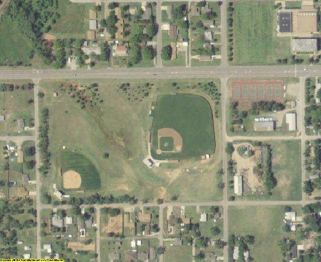 Grady County, OK aerial photography detail