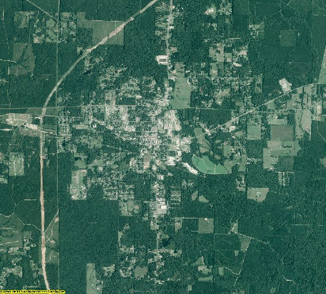 Grant County, Arkansas aerial photography