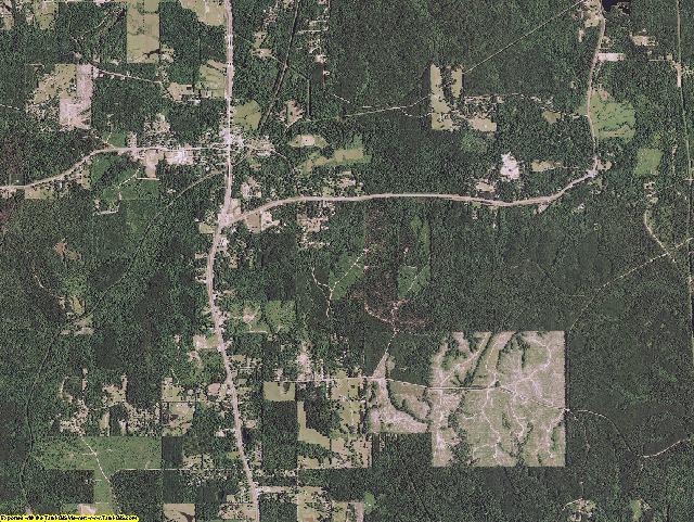 Grant County, Louisiana aerial photography