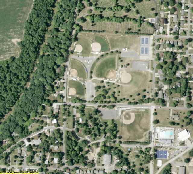 Guernsey County, OH aerial photography detail