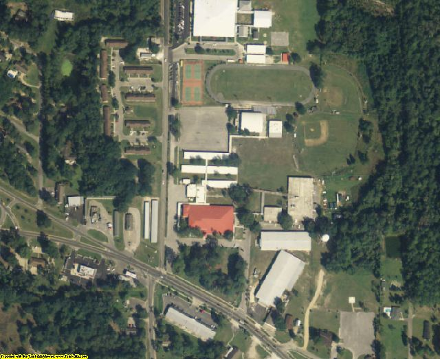 Hamilton County, FL aerial photography detail