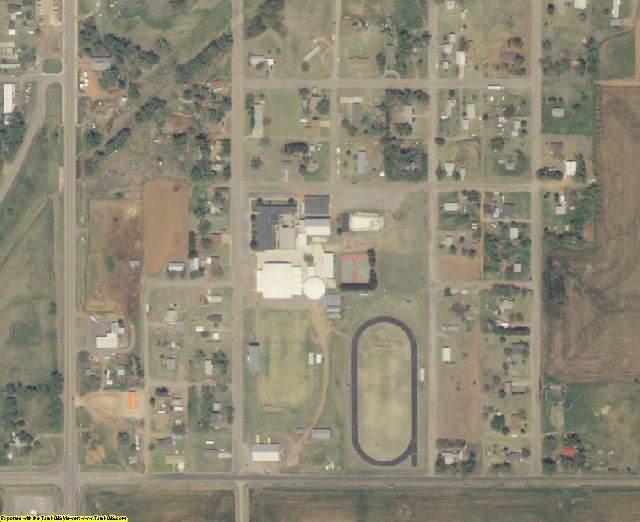 Harper County, OK aerial photography detail