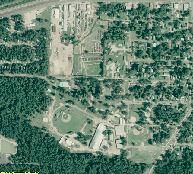 Hempstead County, AR aerial photography detail