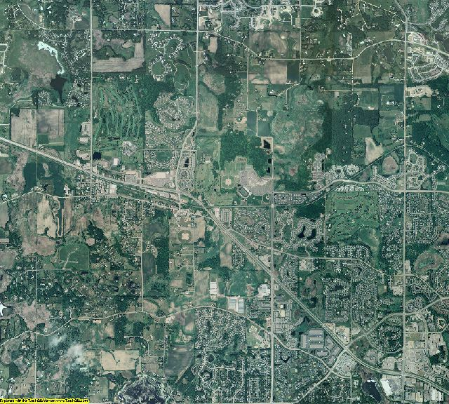 Hennepin County, Minnesota aerial photography