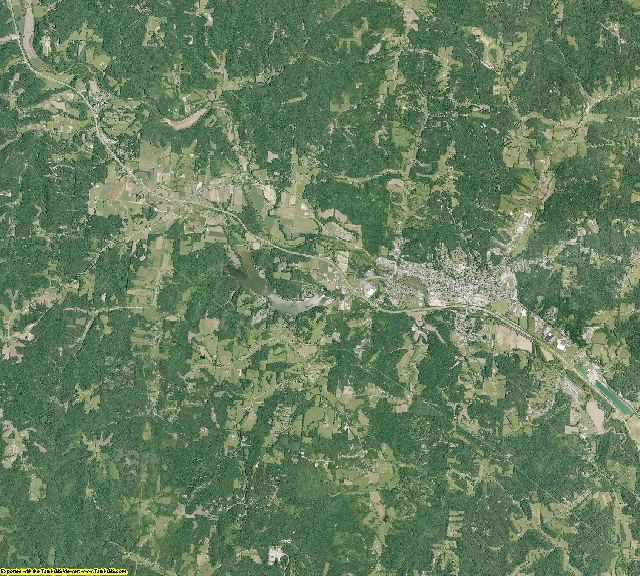 Hocking County, Ohio aerial photography