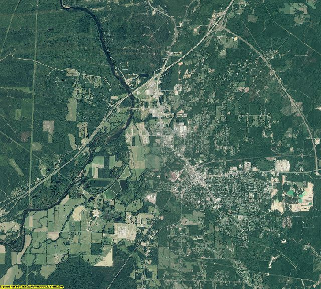 Hot Spring County, Arkansas aerial photography