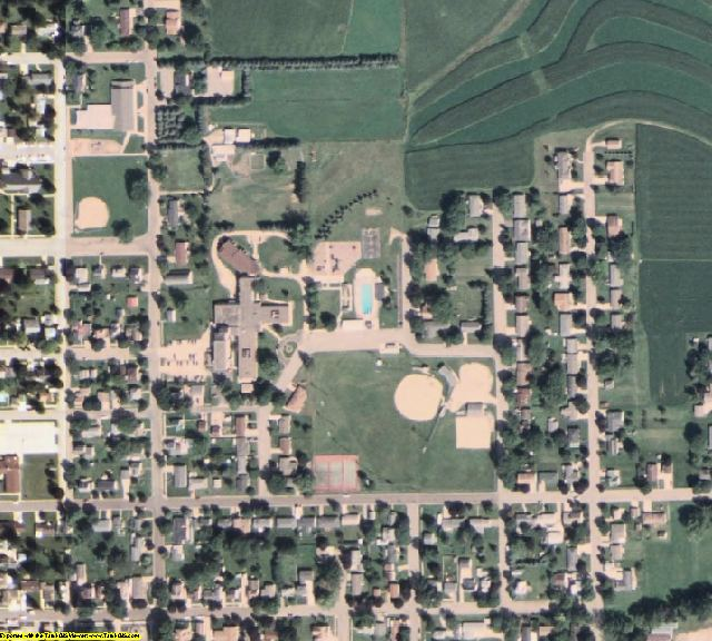 Houston County, MN aerial photography detail