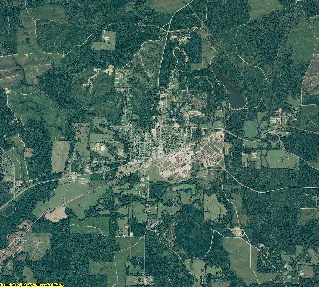 Howard County, Arkansas aerial photography