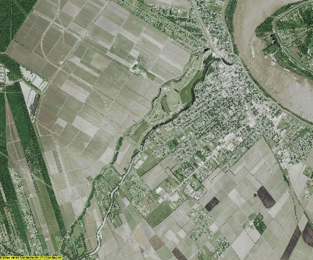 Iberville County, Louisiana aerial photography
