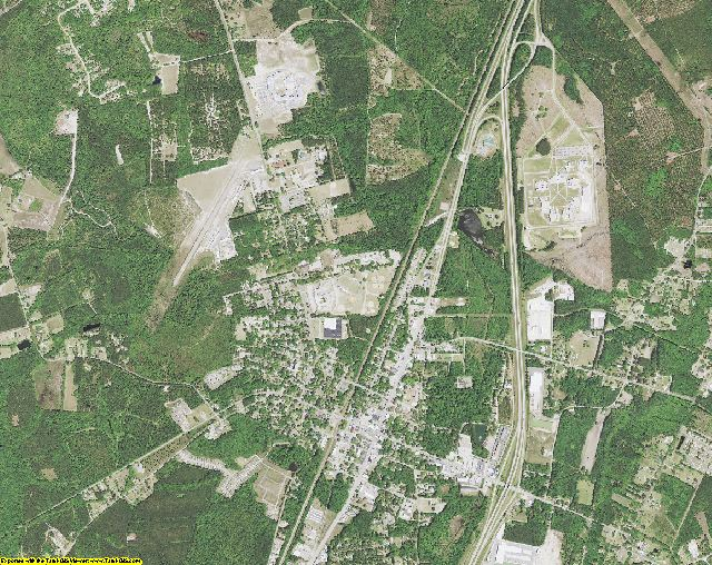 Jasper County, South Carolina aerial photography