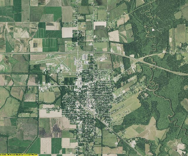 Jefferson Davis County, Louisiana aerial photography