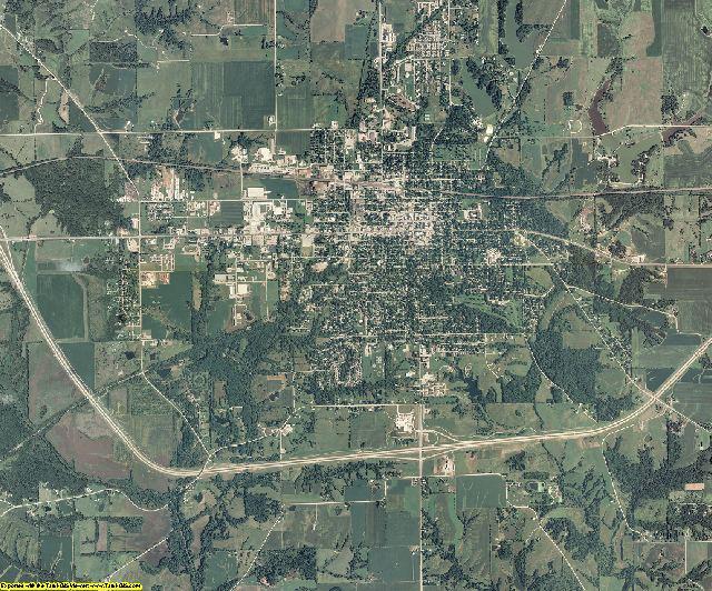 Jefferson County, Iowa aerial photography