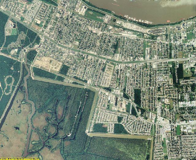 Jefferson County, Louisiana aerial photography