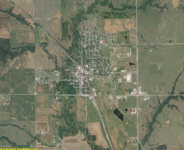 Jefferson County, Oklahoma aerial photography