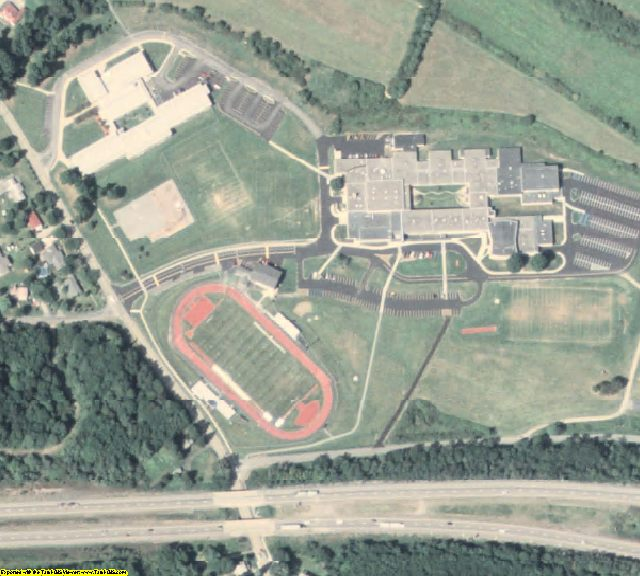 Jefferson County, PA aerial photography detail