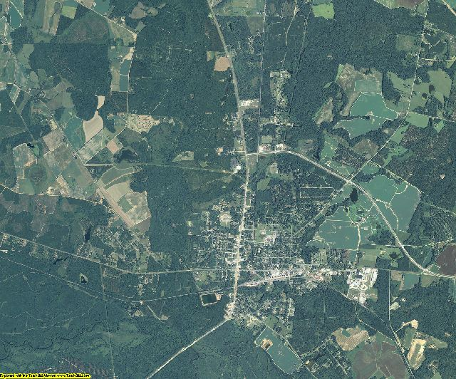Jenkins County, Georgia aerial photography