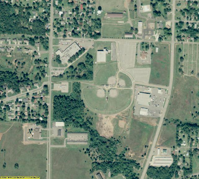 Johnson County, AR aerial photography detail