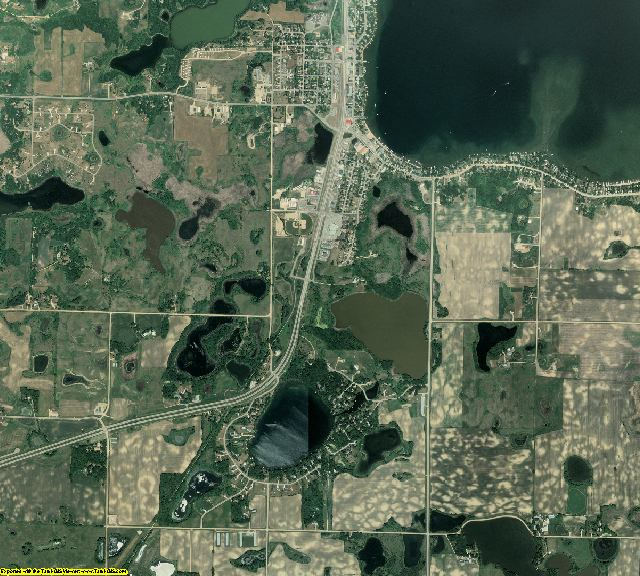 Kandiyohi County, Minnesota aerial photography