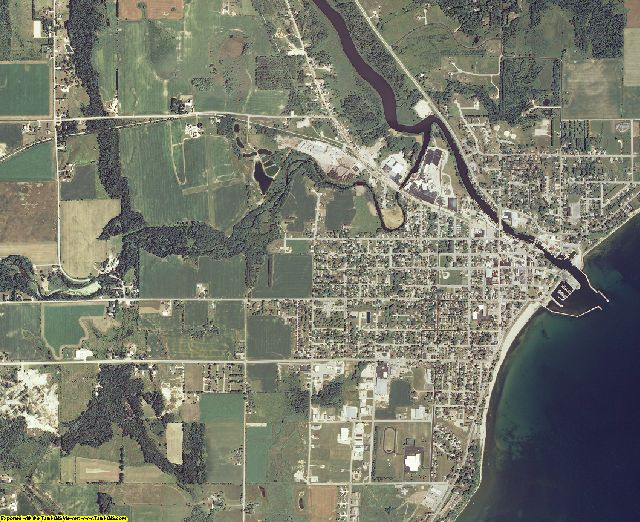 Kewaunee County, Wisconsin aerial photography
