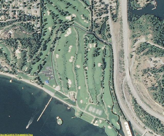 Kootenai County, ID aerial photography detail