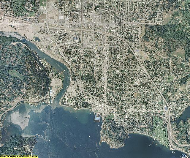 Kootenai County, Idaho aerial photography