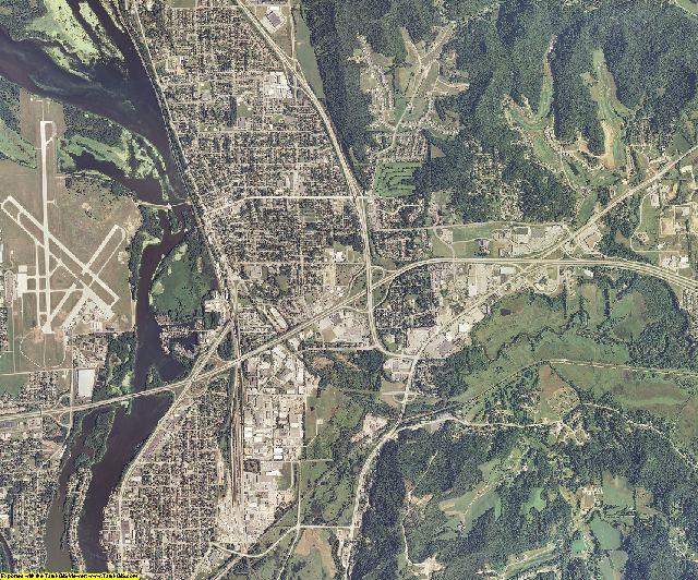 La Crosse County, Wisconsin aerial photography