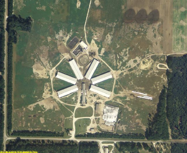 Lafayette County, FL aerial photography detail