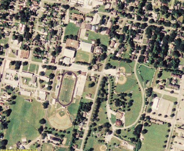 Lafourche County, LA aerial photography detail