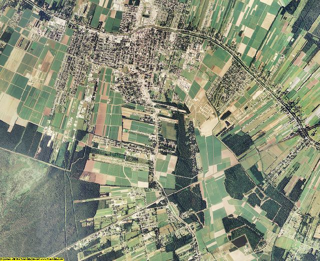 Lafourche County, Louisiana aerial photography
