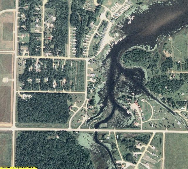 Lake of the Woods County, MN aerial photography detail