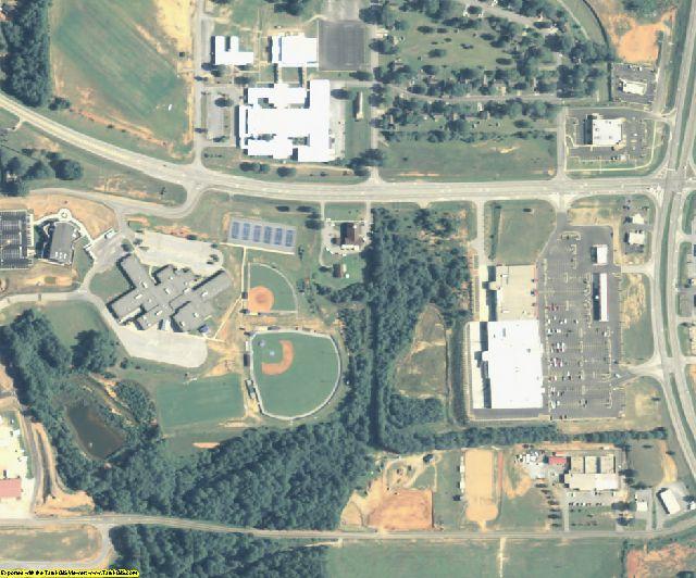 Lamar County, GA aerial photography detail