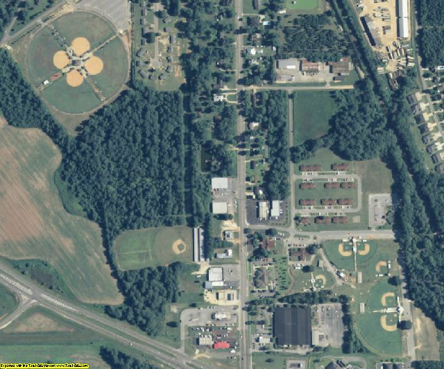Lee County, GA aerial photography detail