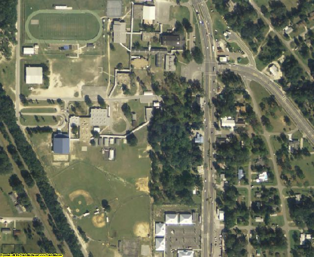 Levy County, FL aerial photography detail
