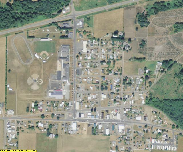 Lewis County, WA aerial photography detail
