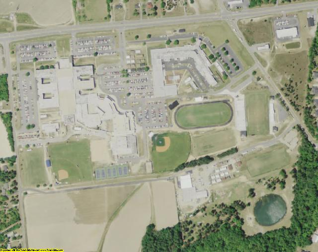 Lexington County, SC aerial photography detail