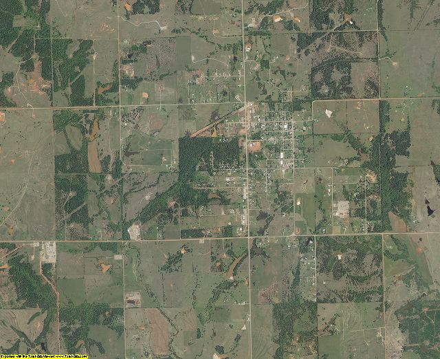 Lincoln County, Oklahoma aerial photography