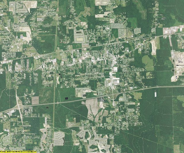 Livingston County, Louisiana aerial photography