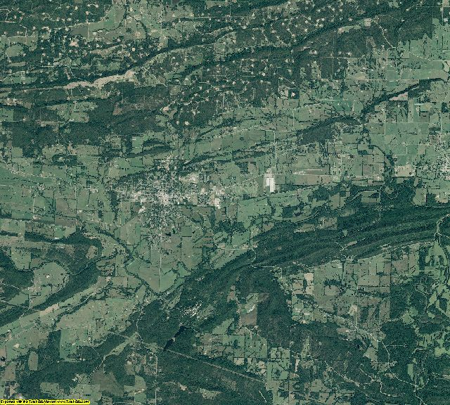 Logan County, Arkansas aerial photography
