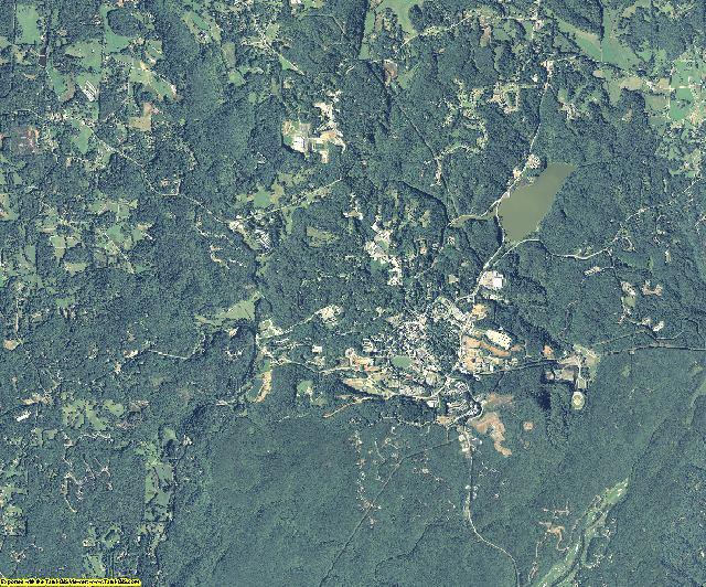 Lumpkin County, Georgia aerial photography