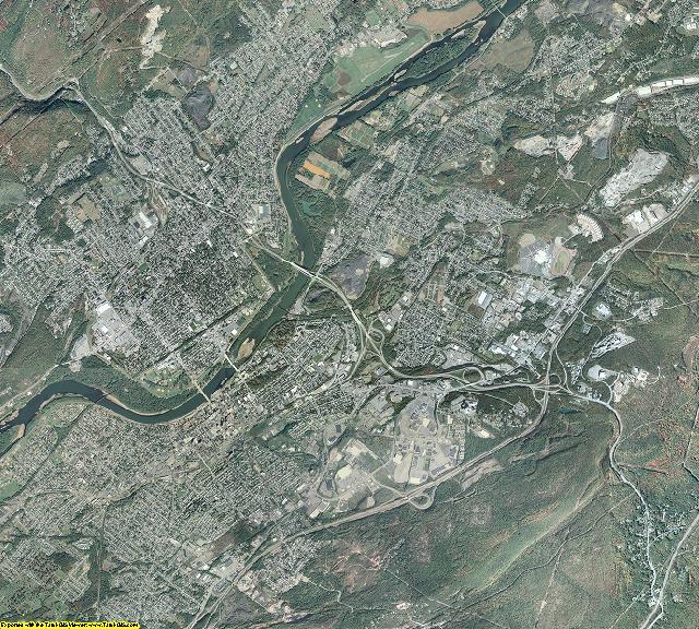 Luzerne County, Pennsylvania aerial photography