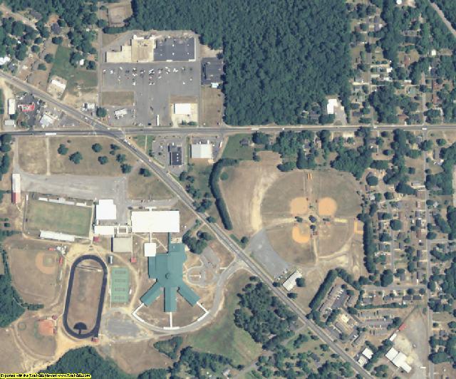 Macon County, GA aerial photography detail