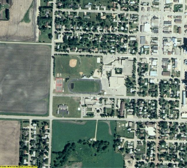 Mahnomen County, MN aerial photography detail