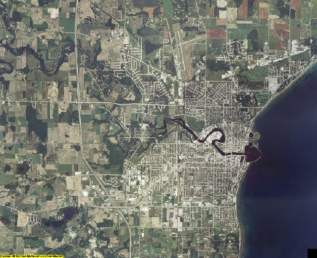 Manitowoc County, Wisconsin aerial photography