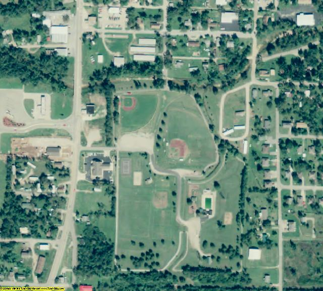 Marion County, AR aerial photography detail