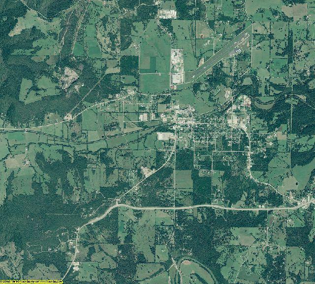 Marion County, Arkansas aerial photography